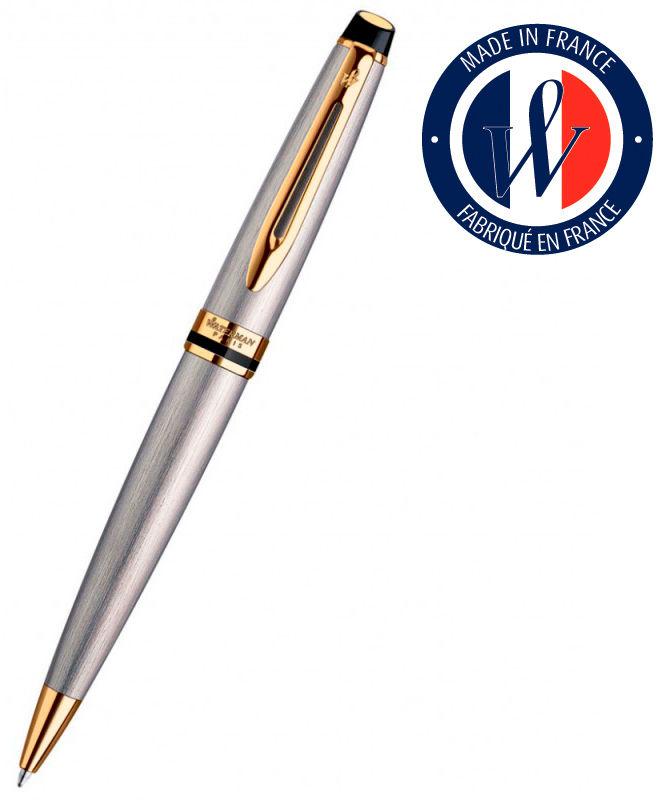 Ручка шариковая Waterman Expert 3 (S0952000) Stainless Steel GT M синие чернила подар.кор.