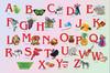 Настольное покрытие Бюрократ Алфавит английский (-BDM2102E) 37.5×58см рисунок