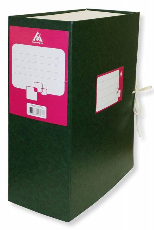 Короб архивный 2 завязки Бюрократ BKA-120 бумвинил корешок 120мм собранный A4 ассорти