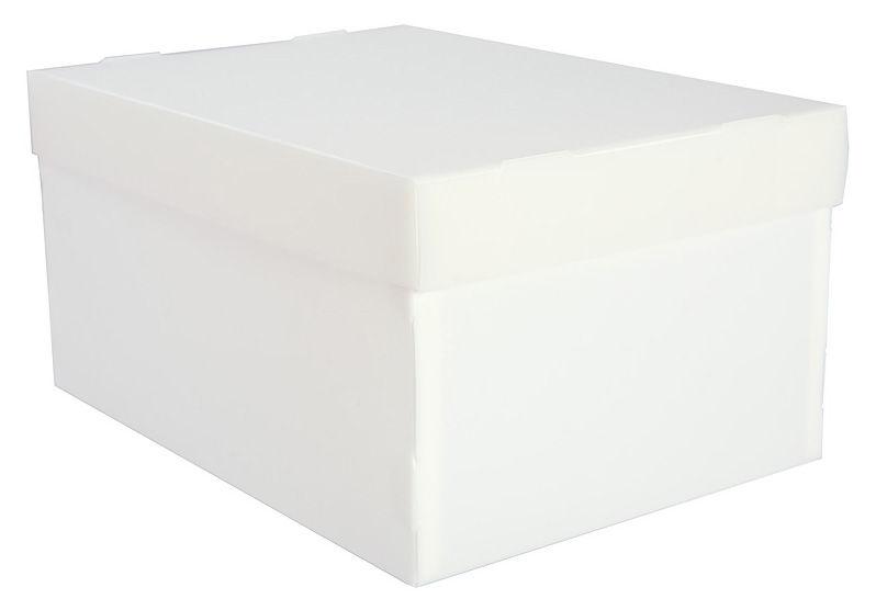 Папка-короб съемная крышка Бюрократ -LPPBOXWT пластик 1мм 345x265x155мм белый