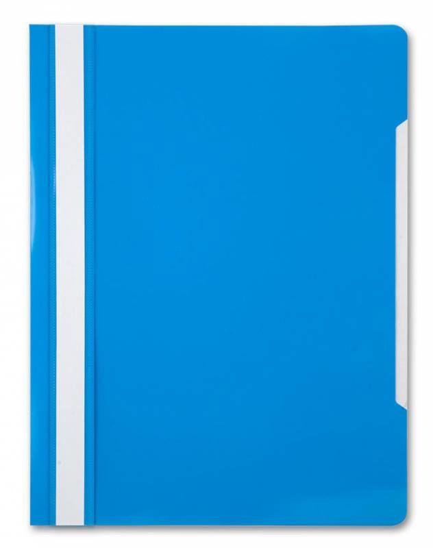 Папка-скоросшиватель Бюрократ -PS20AZURE A4 прозрач.верх.лист пластик голубой 0.12/0.16