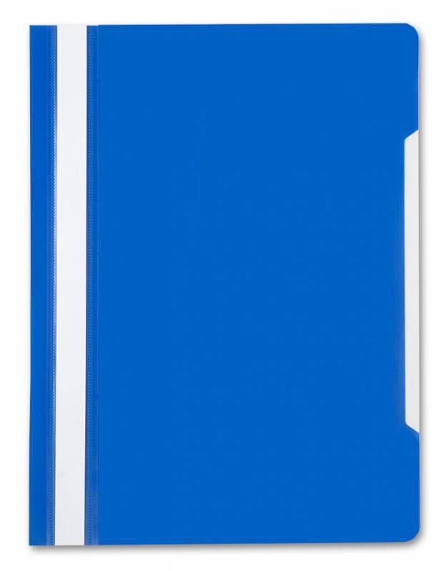 Папка-скоросшиватель Бюрократ -PS20BLUE A4 прозрач.верх.лист пластик синий 0.12/0.16