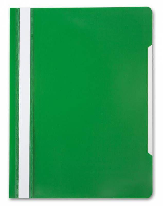 Папка-скоросшиватель Бюрократ -PS20GRN A4 прозрач.верх.лист пластик зеленый 0.12/0.16