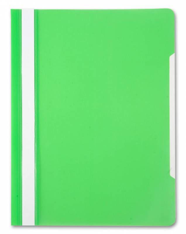 Папка-скоросшиватель Бюрократ -PS20LETT A4 прозрач.верх.лист пластик салатовый 0.12/0.16