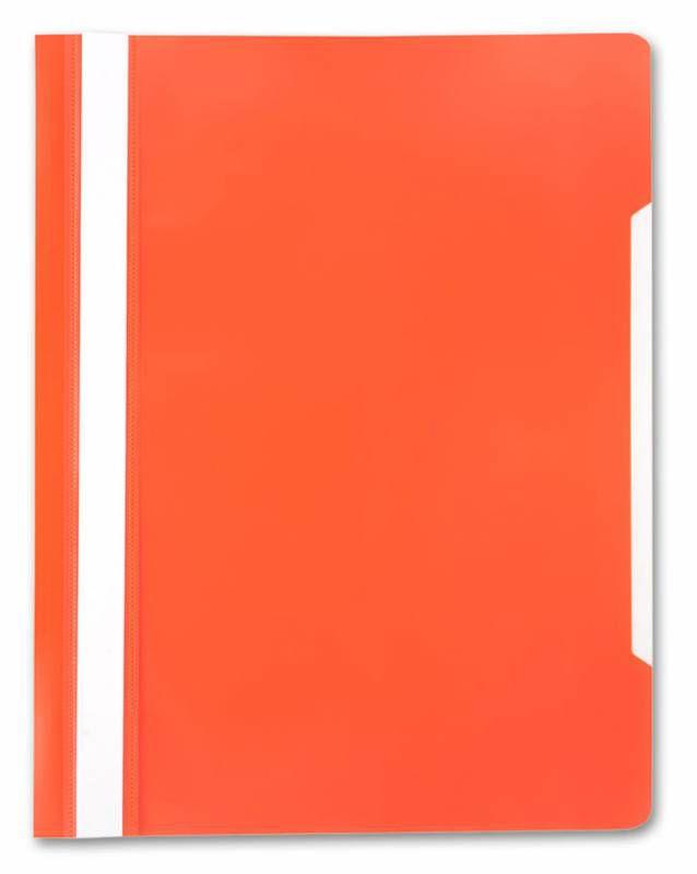 Папка-скоросшиватель Бюрократ -PS20OR A4 прозрач.верх.лист пластик оранжевый 0.12/0.16