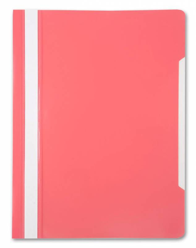 Папка-скоросшиватель Бюрократ -PS20PINK A4 прозрач.верх.лист пластик розовый 0.12/0.16