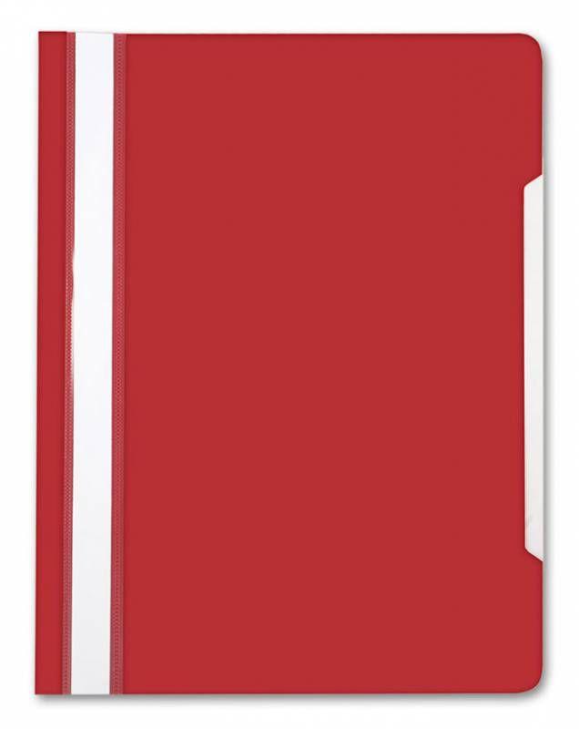 Папка-скоросшиватель Бюрократ -PS20RASP A4 прозрач.верх.лист пластик малиновый 0.12/0.16