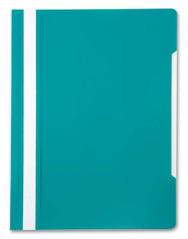 Папка-скоросшиватель Бюрократ -PS20TURG A4 прозрач.верх.лист пластик бирюзовый 0.12/0.16