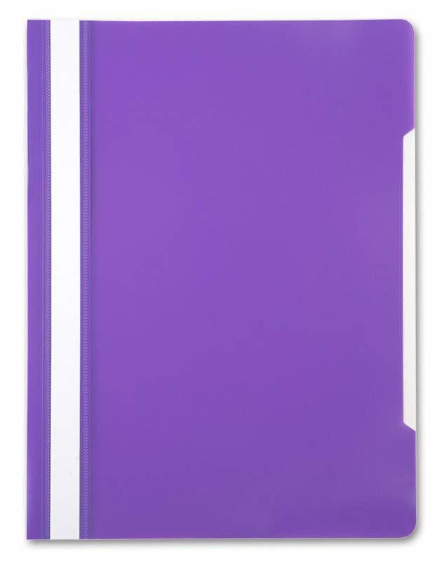 Папка-скоросшиватель Бюрократ -PS20VIO A4 прозрач.верх.лист пластик фиолетовый 0.12/0.16