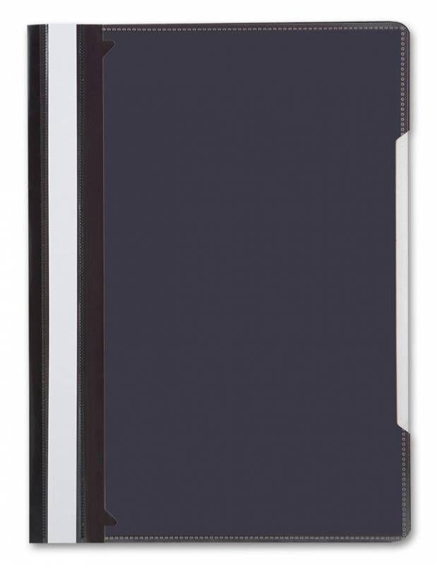 Папка-скоросшиватель Бюрократ -PS-K20BLCK A4 прозрач.верх.лист карм.на лиц.стор. пластик черный 0.12