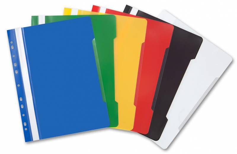 Папка-скоросшиватель Бюрократ -PS-P20/1 A4 прозрач.верх.лист боков.перф. пластик ассорти 0.12/0.16