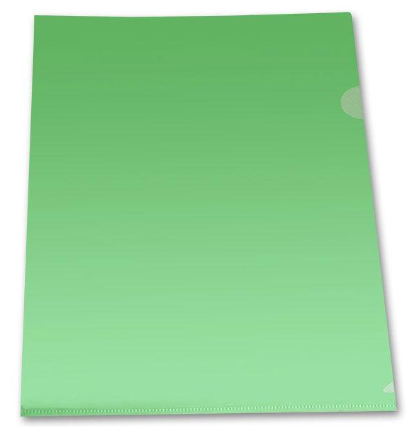 Папка-уголок Бюрократ Economy -E100GRN тисненый A4 пластик 0.10мм зеленый
