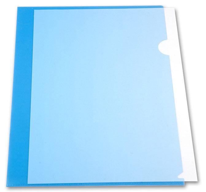 Папка-уголок Бюрократ -E310/1BLU A4 пластик 0.18мм синий
