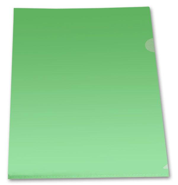 Папка-уголок Бюрократ -E310/1GR A4 пластик 0.18мм зеленый