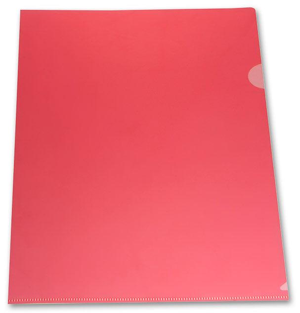 Папка-уголок Бюрократ -E310/1RED A4 пластик 0.18мм красный