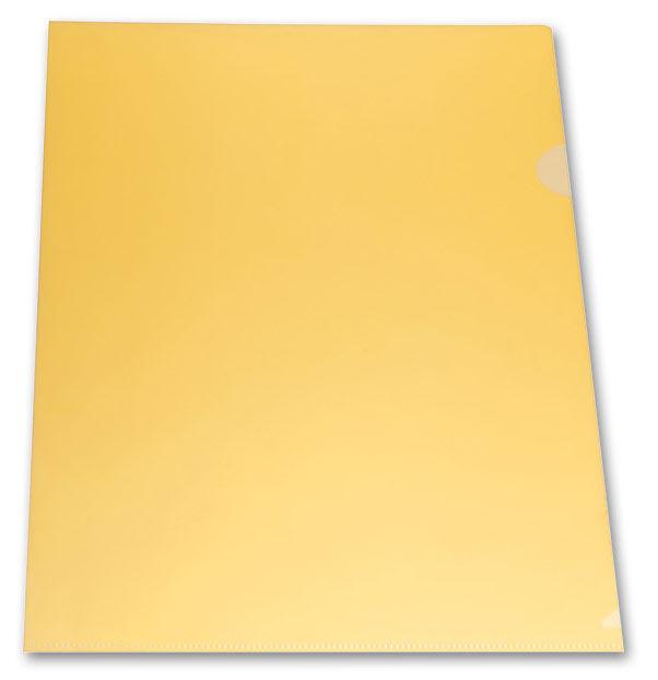 Папка-уголок Бюрократ -E310/1YEL A4 пластик 0.18мм желтый