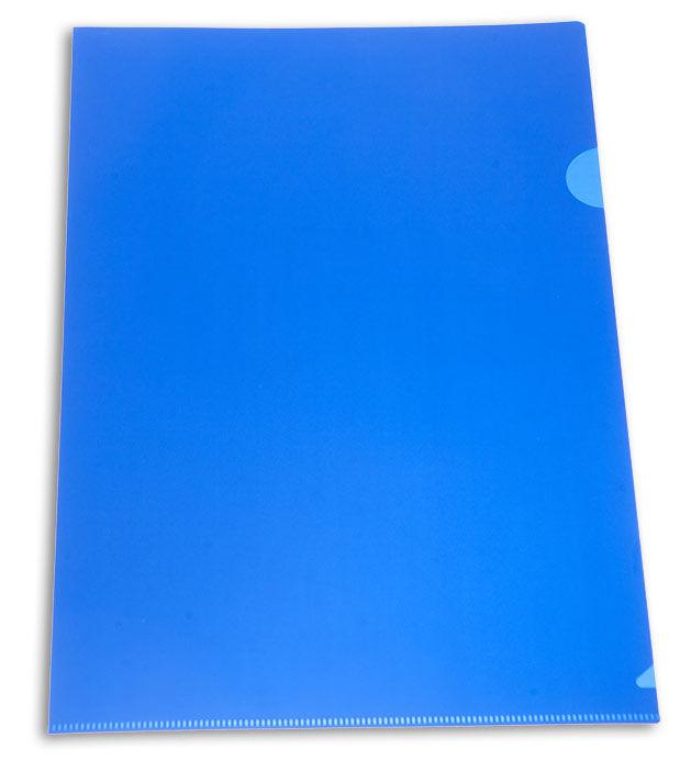 Папка-уголок Бюрократ -E310N/1BLU непрозрачный A4 пластик 0.18мм синий