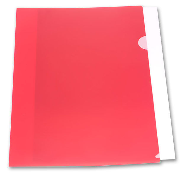 Папка-уголок Бюрократ -E310N/1RED непрозрачный A4 пластик 0.18мм красный