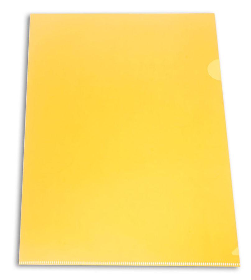 Папка-уголок Бюрократ -E310N/1YEL непрозрачный A4 пластик 0.18мм желтый