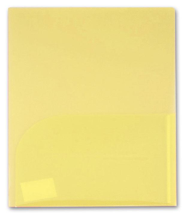 Папка-уголок Бюрократ -E560YEL 2 внутр.карман A4 пластик 0.40мм желтый
