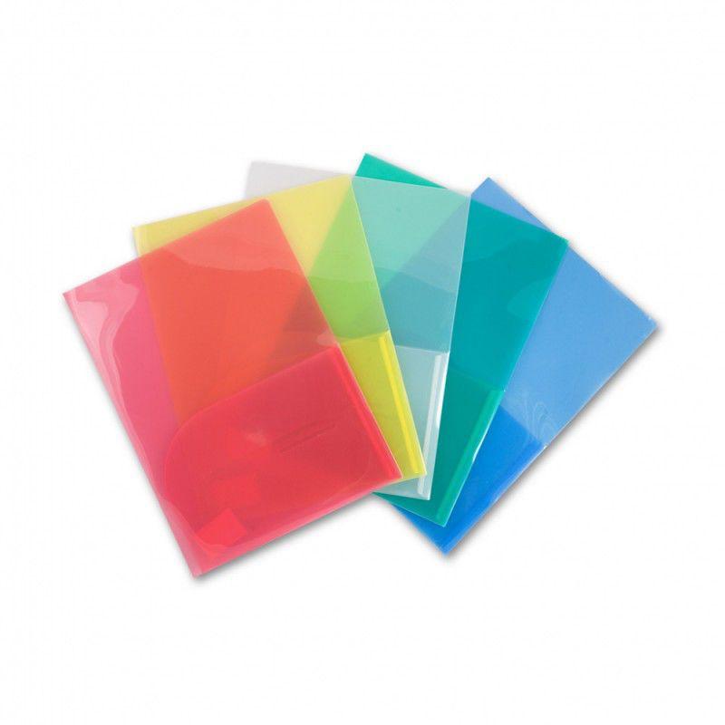 Папка-уголок Бюрократ -E570BLU 2 внутр.карман A4 пластик 0.18мм синий