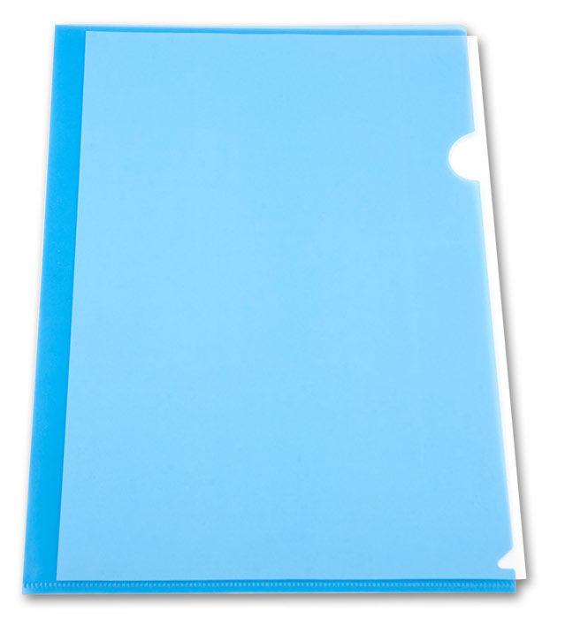 Папка-уголок Бюрократ -EE310/1BLU A4 пластик 0.15мм синий