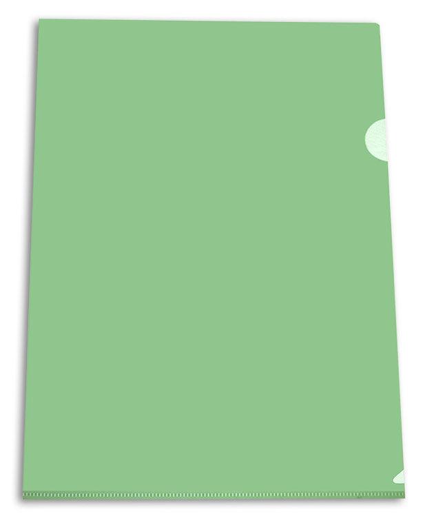 Папка-уголок Бюрократ -EE310/1GREEN A4 пластик 0.15мм зеленый