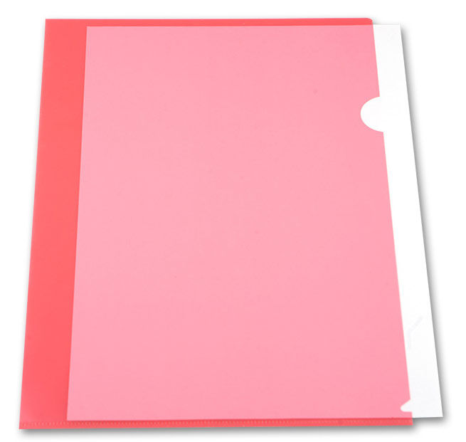 Папка-уголок Бюрократ -EE310/1RED A4 пластик 0.15мм красный