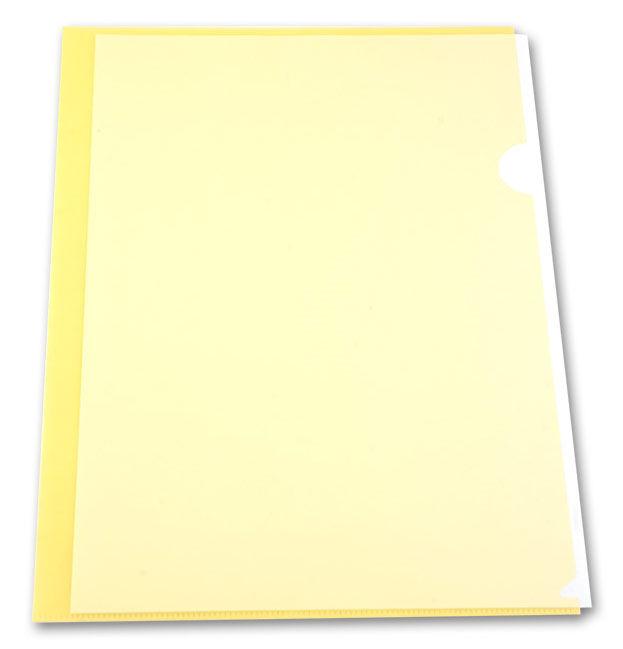 Папка-уголок Бюрократ -EE310/1YEL A4 пластик 0.15мм желтый