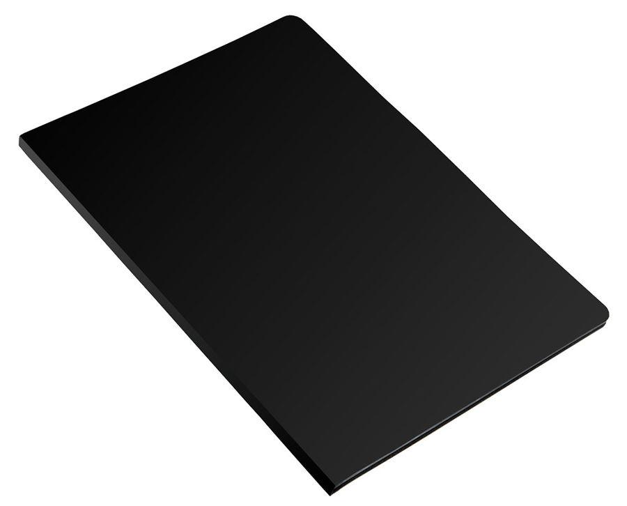 Папка на 2-х кольцах Бюрократ Economy -EC0418/2RBLACK A4 пластик 0.4мм кор.18мм черный