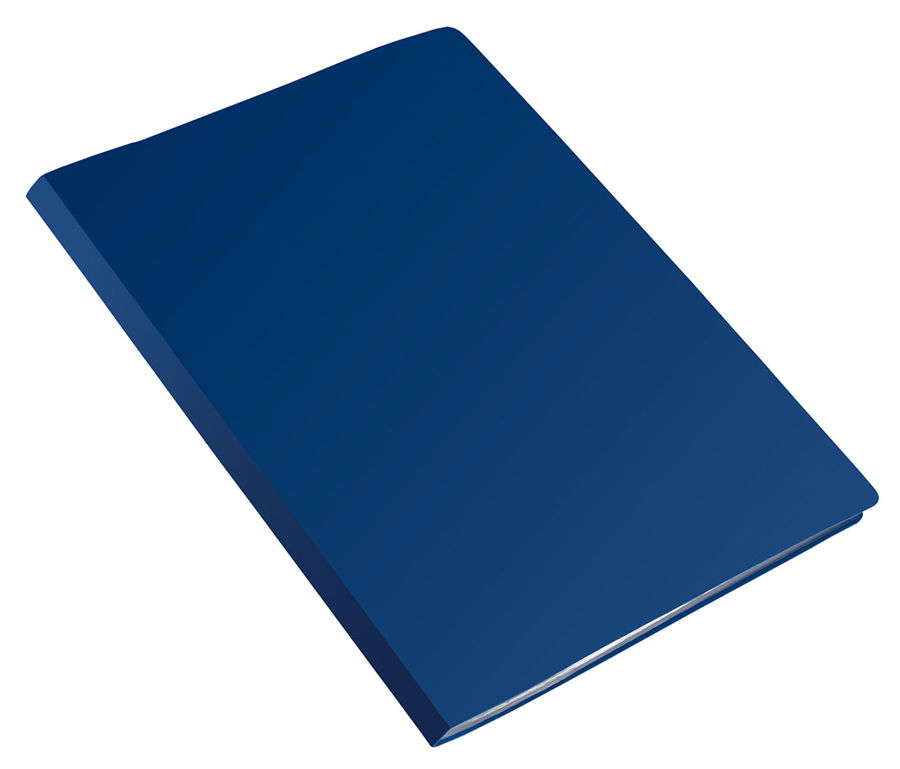 Папка на 2-х кольцах Бюрократ Economy -EC0418/2RBLUE A4 пластик 0.4мм кор.18мм синий