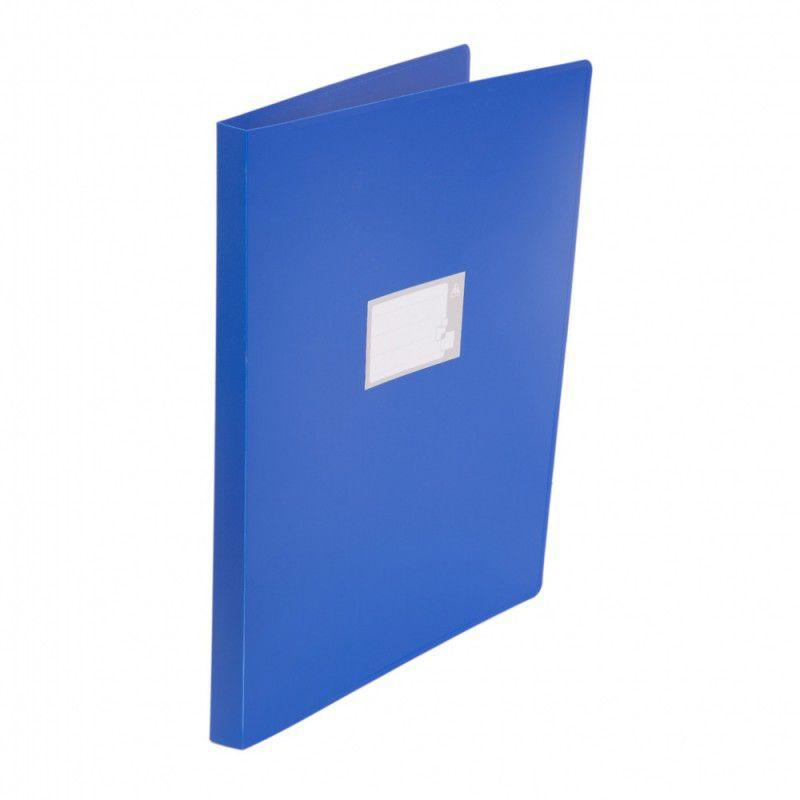 Папка на 4-х кольцах Бюрократ -0827VA3BLU A3 верт. пластик 0.8мм кор.27мм синий