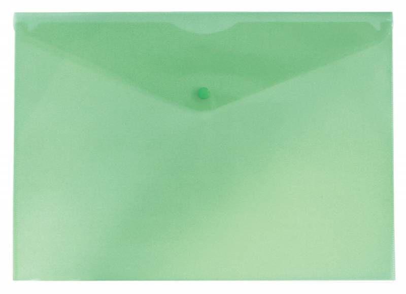 Конверт на кнопке Бюрократ Economy -PK100GRN A4 тисненый пластик 0.10мм зеленый