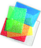 """Конверт на кнопке Бюрократ -PK810RED A4 с рисунком """"Листочки"""" пластик 0.18мм красный вид 2"""
