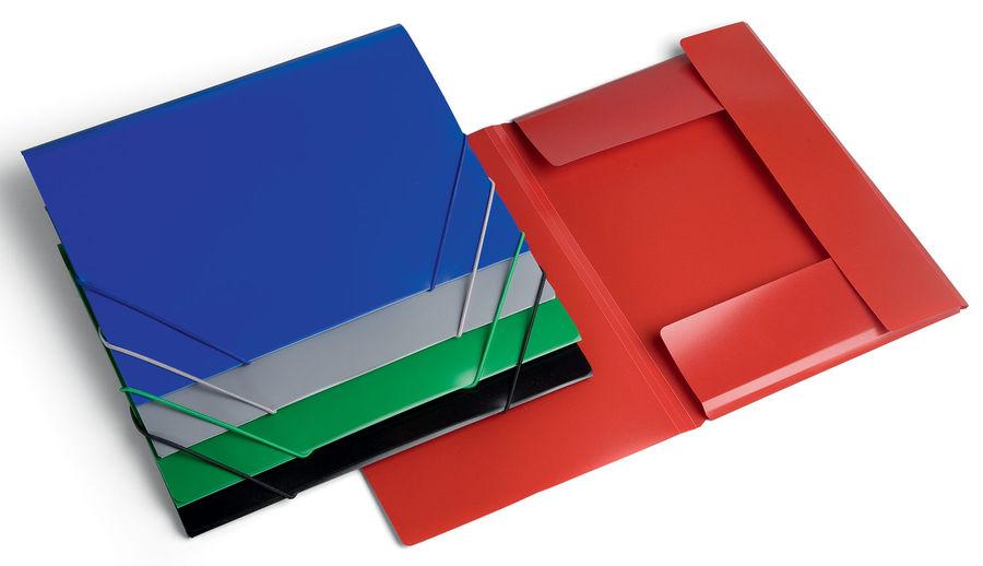 Папка на резинке Бюрократ -PR04 A4 пластик кор.15мм 0.4мм ассорти