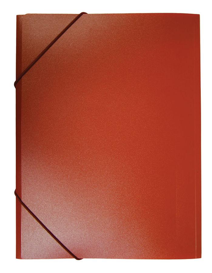 Папка на резинке Бюрократ -PR04RED A4 пластик кор.15мм 0.4мм красный