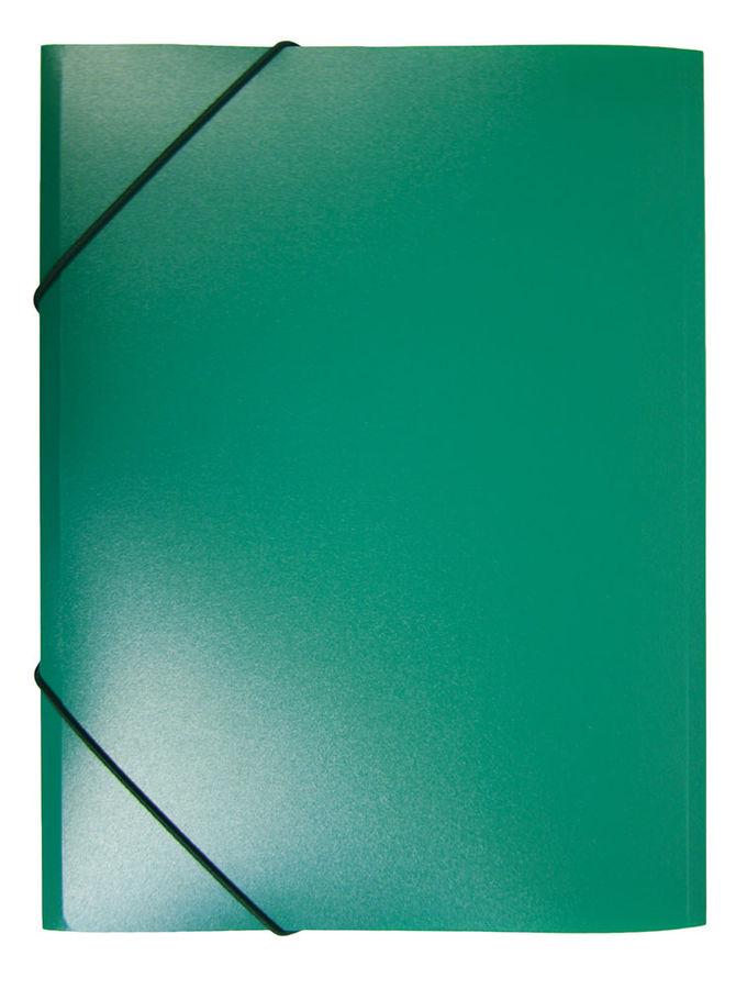 Папка на резинке Бюрократ -PR05GRN A4 пластик кор.30мм 0.5мм зеленый
