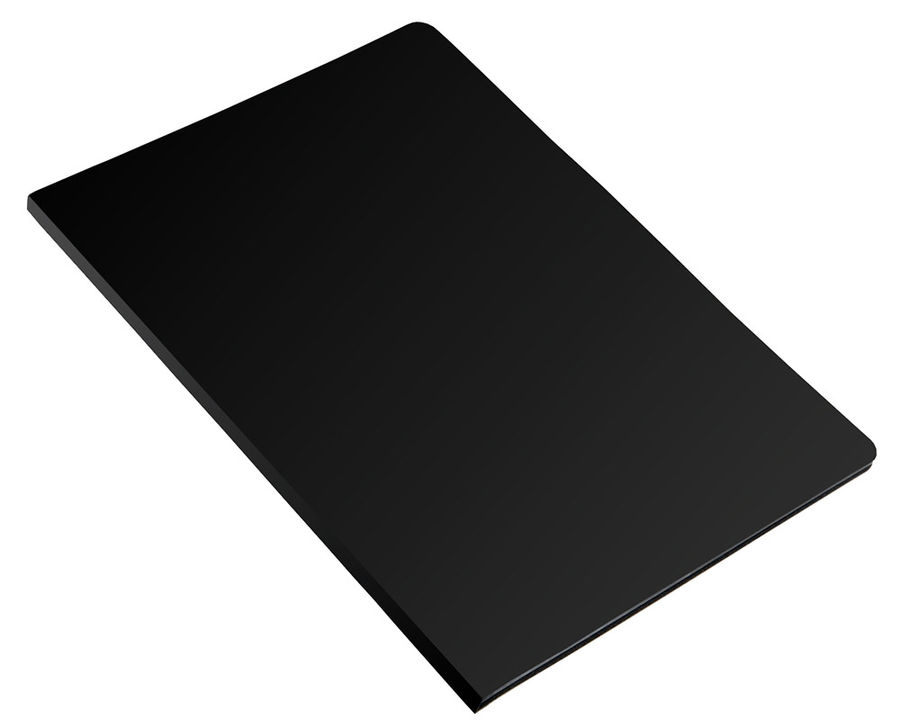 Папка с метал.зажим Бюрократ Economy -EC04CBLCK A4 пластик 0.4мм черный