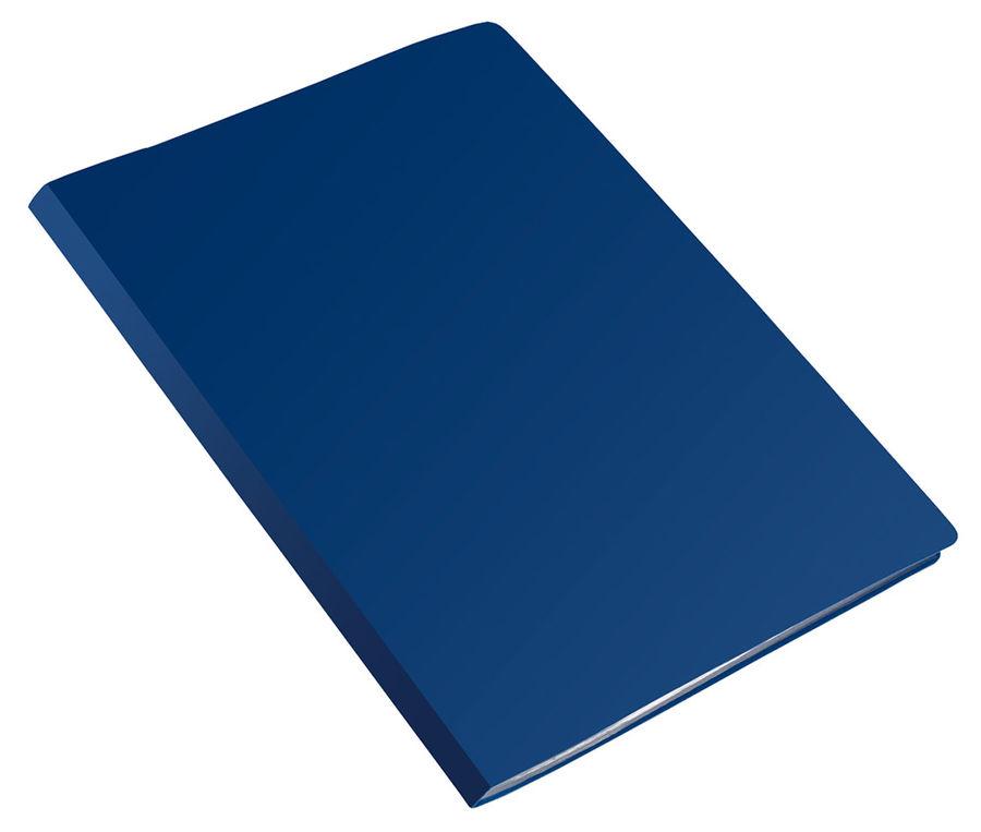 Папка с пласт.пруж.скоросш. Бюрократ Economy -EC04PBLUE A4 пластик 0.4мм синий