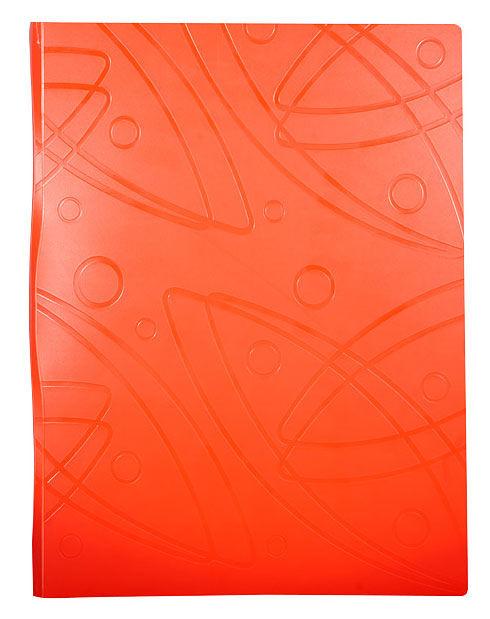 Папка с метал.зажим Бюрократ Galaxy -GA07COR A4 пластик 0.7мм оранжевый