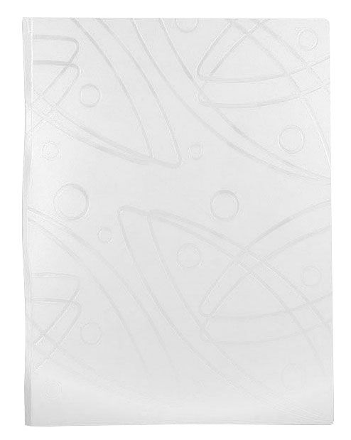 Папка с метал.зажим Бюрократ Galaxy -GA07CWT A4 пластик 0.7мм белый
