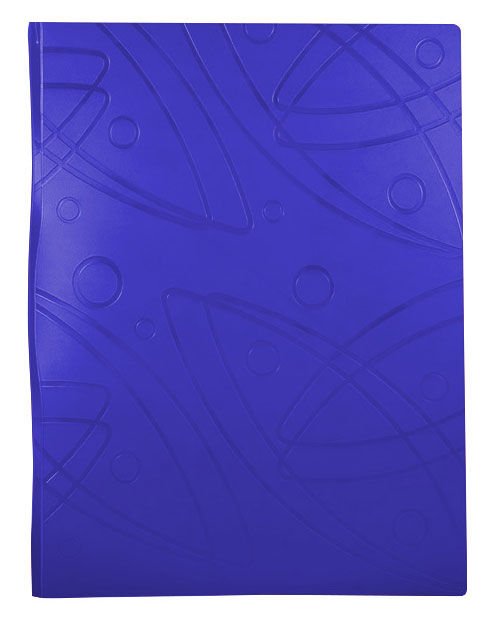 Папка с метал.пруж.скоросш. Бюрократ Galaxy -GA07PBLUE A4 пластик 0.7мм синий