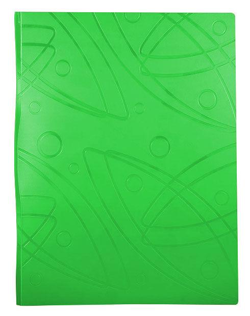 Папка с метал.пруж.скоросш. Бюрократ -GA07PLETT A4 пластик 0.7мм салатовый