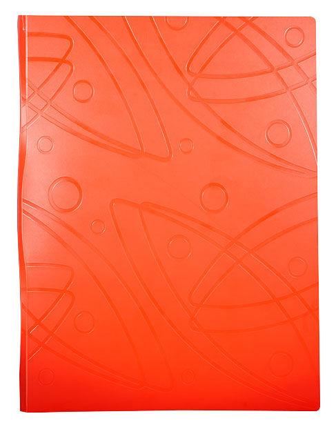 Папка с метал.пруж.скоросш. Бюрократ Galaxy -GA07POR A4 пластик 0.7мм оранжевый