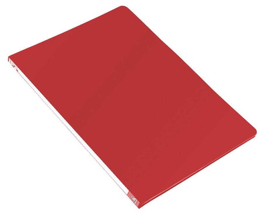 Папка с метал.зажим Бюрократ -PZ05CRED A4 пластик 0.5мм торц.наклейка красный