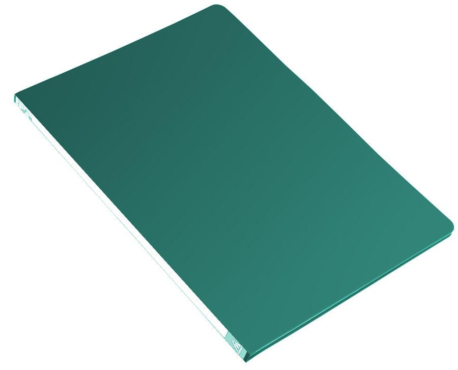 Папка с метал.пруж.скоросш. Бюрократ -PZ05PGREEN A4 пластик 0.5мм торц.наклейка зеленый