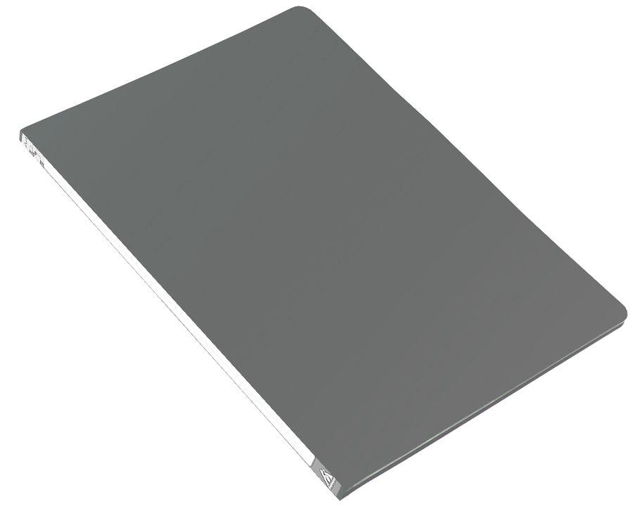 Папка с метал.пруж.скоросш. Бюрократ -PZ05PGREY A4 пластик 0.5мм торц.наклейка серый