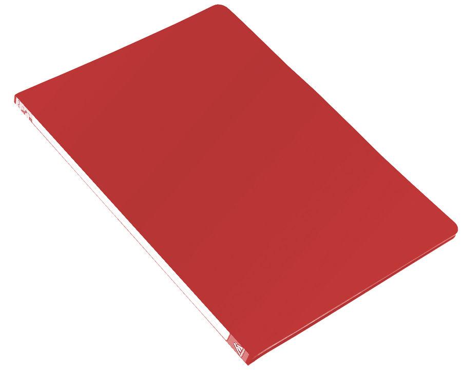 Папка с метал.пруж.скоросш. Бюрократ -PZ05PRED A4 пластик 0.5мм торц.наклейка красный