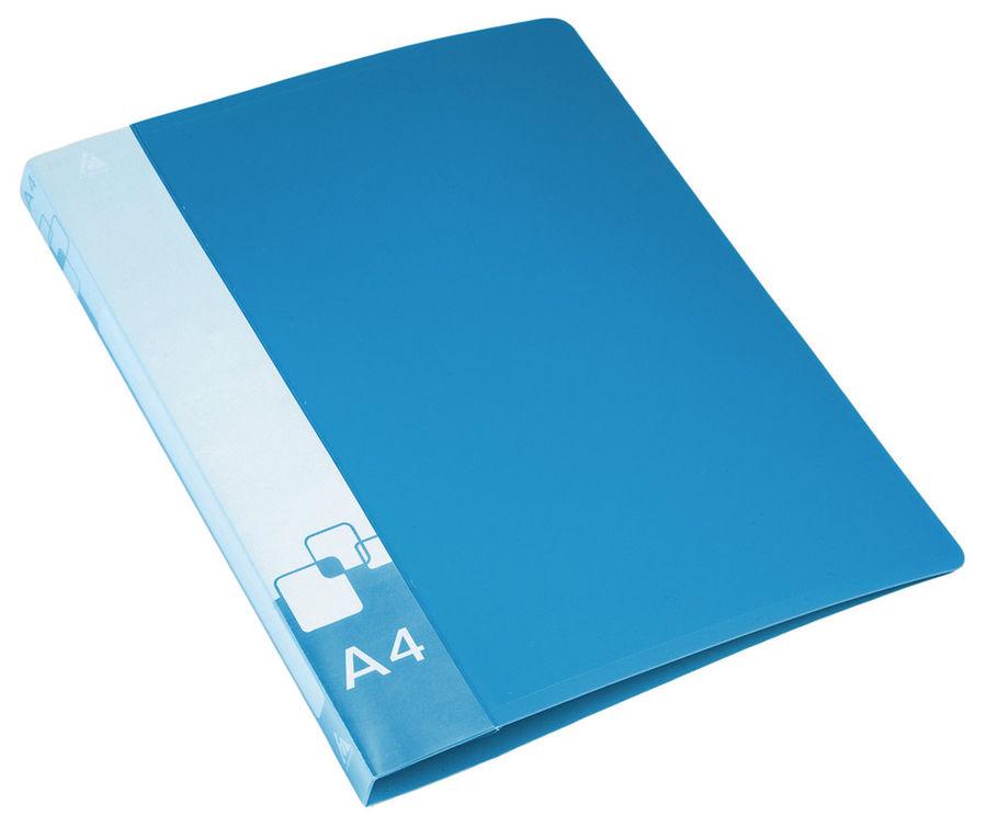 Папка с метал.пруж.скоросш. Бюрократ -PZ07PBLUE A4 пластик 0.7мм внут.и торц.карм синий