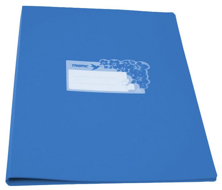 Папка с метал.зажим Бюрократ Tropic -TR07CAZURE A4 пластик 0.7мм голубой